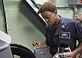 USS Lake Erie (CG 70) Sailor paints fleet angle compensator 170829-N-MZ078-084.jpg