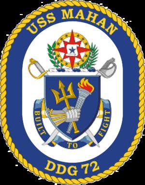 USS Mahan (DDG-72) - Image: USS Mahan DDG 72 Crest