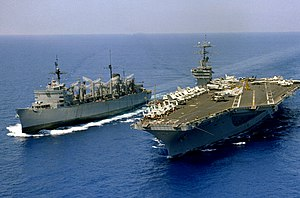 USS Nimitz (CVN-68) and USS Seattle (AOE-3) in 1981.JPEG