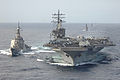 USS Ronald Reagan (CVN 76) connects to JS Myoko (DDG 175) of the Japan Maritime Self Defense Force during a refueling at sea evolution March 17, 2007 070317-N-HX866-052.jpg