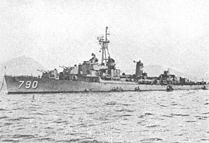 USS Shelton (DD-790) at Sasebo in 1952