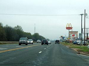 U.S. Route 71 - US 59/US 71 in Ashdown