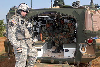 IAV Stryker - View into the rear compartment