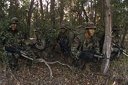 US Marines on reconnaissance exercise 2003