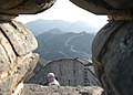 US Navy 040226-N-5295B-037 Senior Chief Cryptologic Technician Michael Reilly stops for a scenic look at the Great Wall of China.jpg