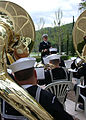 US Navy 050505-N-2893B-002 The 6th Fleet Bandmaster, Lt. Bruce McDonald, provides music for a ceremony celebrating the 60th Anniversary World War II (WWII), at Italy's Florence American Cemetery and Memorial.jpg