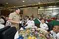 US Navy 051206-N-8157C-025 Master Chief Petty Officer of the Navy (MCPON) Terry Scott speaks with Sailors during breakfast at the Silver Dolphin Bistro on board Naval Station Pearl Harbor, Hawaii.jpg