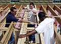 US Navy 060517-N-3342W-002 Sailors from Naval Hospital Great Lakes marked Navy Week Chicago by giving back to the community, unloading building materials at a Habitat for Humanity construction project in Chicago's South Suburbs.jpg