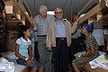 US Navy 090708-F-1333S-083 Nicaraguan Vice President Jaime Morales and U.S. Ambassador to Nicaragua Robert Callahan greet patients during a tour of the Military Sealift Command hospital ship USNS Comfort (T-AH 20).jpg