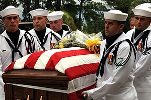 Scott Speicher - Sailors from a U.S. Navy honor guard carry Speicher's remains to All Saints Chapel at NAS Jacksonville, Florida in August 2009.