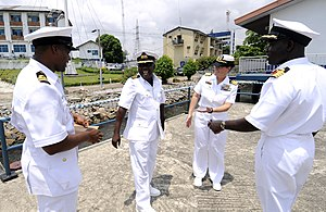 US Navy 100308-N-7948C-301 Capt. Cindy Thebaud meets with Nigerian navy officers.jpg