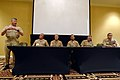 US Navy 100322-N-9818V-310 Master Chief Petty Officer of the Navy (MCPON) Rick West answers questions during a leadership panel at the first Department of the Navy Sexual Assault Response Coordinator Summit.jpg