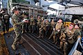 US Navy 110305-N-RC734-015 Gunnery Sgt. Rafael Ortega briefs Marines on safety procedures before a small-arms live-fire exercise aboard USS Comstoc.jpg
