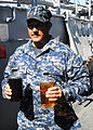 US Navy 111020-N-YT478-006 Chief Warrant Officer 3 Eric Jones, the waterfront maintenance officer for Assault Craft Unit (ACU) 2, holds samples of.jpg