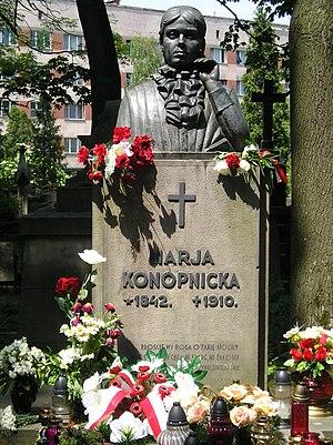 Maria Konopnicka - Konopnicka's grave in Lviv