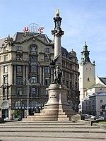 Ukraine-Lviv-Monument to Adam Mickiewicz-2