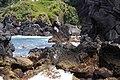Uma das enseadas que formam a Baía de Vila Maria, em dia de tempestade, ilha Terceira, Açores, Portugal.JPG