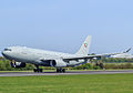 United Arab Emirates Airbus A330 MRTT taking off at Manchester Airport.jpg