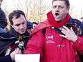 United Belgium Brussels demonstration 20071118 DMisson 00118 parc Cinquantenaire ULB students singing Brabancone.jpg