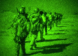 United States special operations forces - Navy SEALs during night operation in Afghanistan.