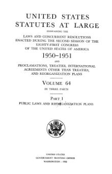 United States Statutes at Large Volume 64 Part 1.djvu