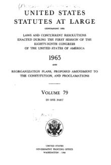 United States Statutes at Large Volume 79.djvu