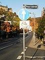 Universitätsstrasse in Marburg mit Freigabe des Abbiegens für Radverkehr in Querstrasse entgegen der Einbahnstrasse 2017-10-14.jpg