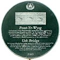Usk Bridge plaque, Brecon (geograph 2977056).jpg