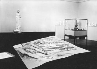 Utställning på Liljevalchs Konsthall 1933. Vouni rummet. Stockholm. utställning. Sverige - SMVK - C05061.tif