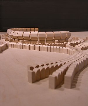 Additive Architecture - Utzon's model for a Jeddah sports stadium (1967)
