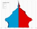 Uzbekistan single age population pyramid 2020.png