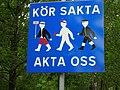 Vägmärke Brinellvägen Norra Djurgården 2005-06-27.jpg