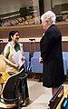 Välisminister Marina Kaljurand kohtus täna ÜRO peaassamblee 70. istungijärgu avanädala raames India välisministri Sushma Swarajga. 30. september 2015 (21828173522).jpg