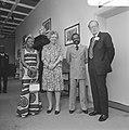 V.l.n.r. mevrouw Bongo, koningin Juliana, president Bongo en prins Bernhard, Bestanddeelnr 926-4081.jpg