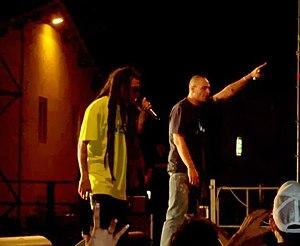 Fabri Fibra - Fabri Fibra and Vacca during a live show in 2008