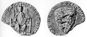 Valdemar II of Denmark - The Seal of Valdemar II.