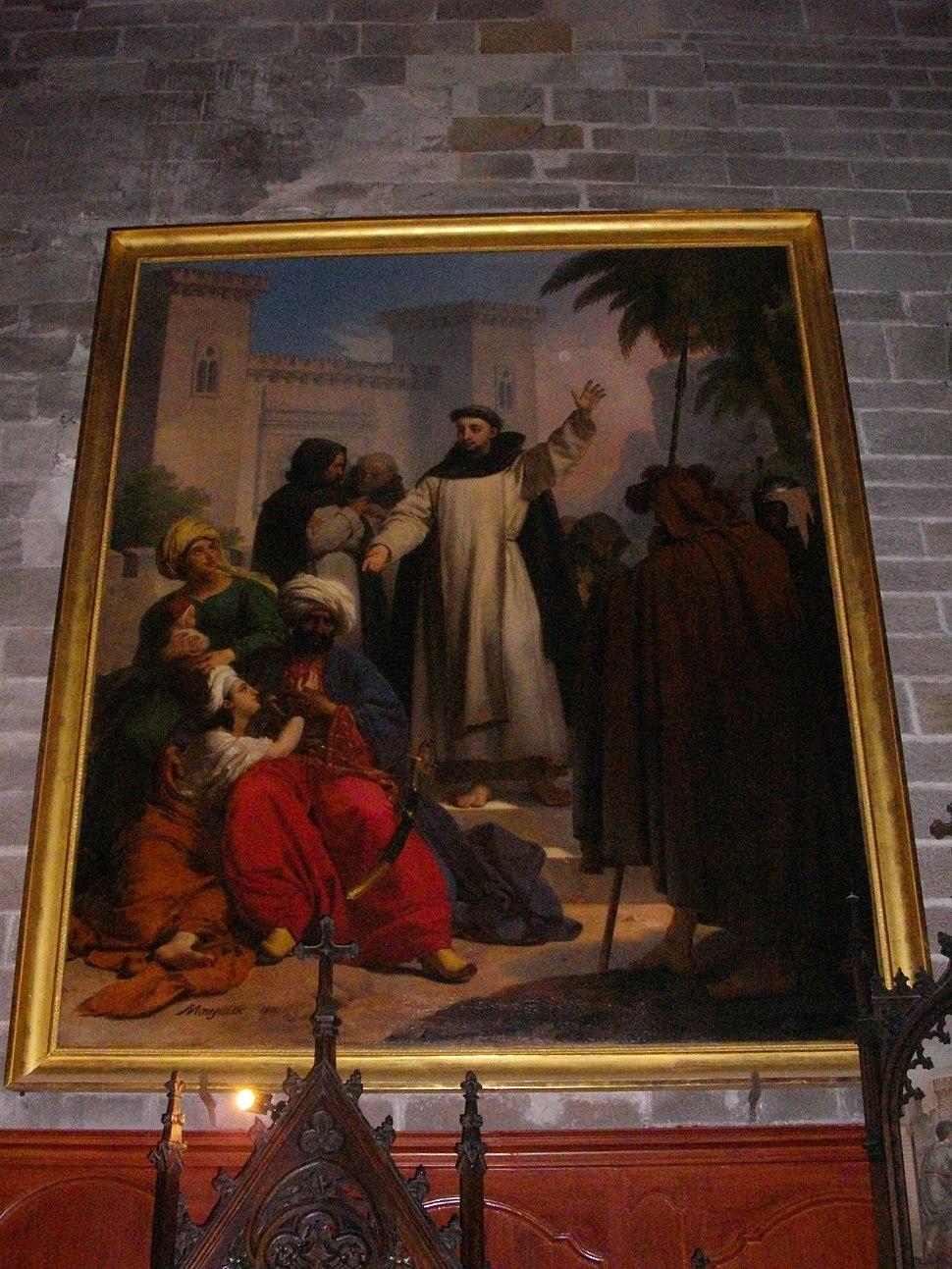 Vannes - cathédrale, Saint Vincent Ferrier prêchant les infidèles