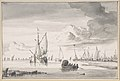 Various Ships and a Rowing Boat on an Estuary MET DP800780.jpg