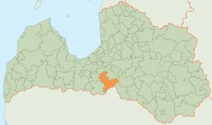 Vecumnieki Municipality - Image: Vecumnieku novada karte