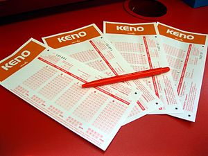 Keno - A set of keno betting slips