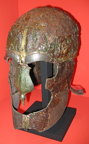 Swedish-Geatish wars - A Vendel era Spangenhelm at the Swedish Museum of National Antiquities.