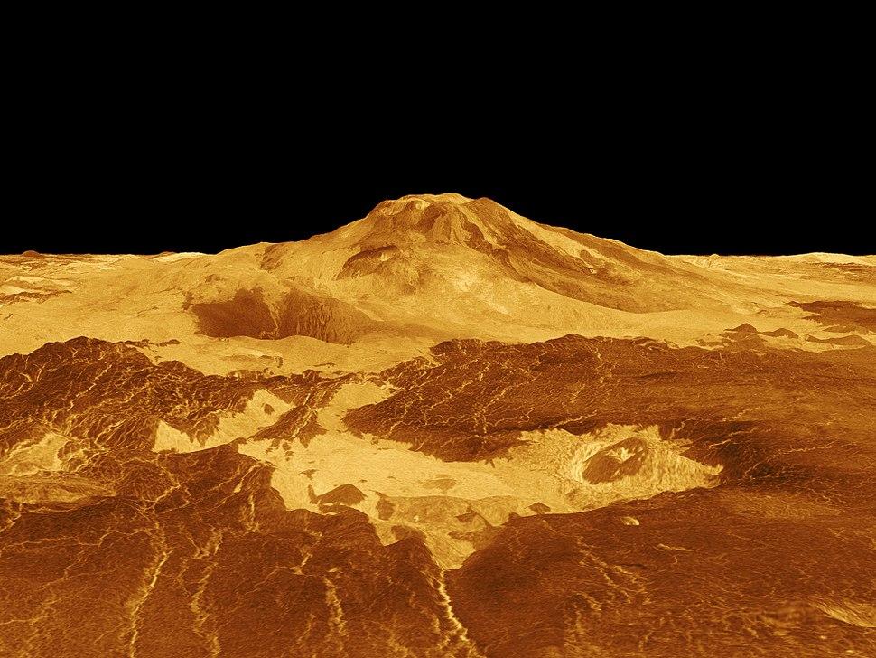 Venus - 3D Perspective View of Maat Mons