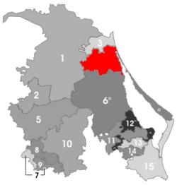 Vị trí của đô thị trong bang Veracruz