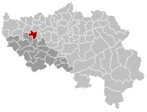 Verlaine - Image: Verlaine Liège Belgium Map