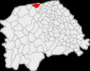 Poziția în cadrul județului Suceava