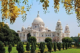 A photograph of Victoria Memorial Hall, Kolkata.