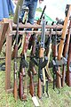 Victory Show Cosby UK 06-09-2015 WW2 re-enactment Trade stalls Militaria personal gear replicas reprod.originals zaphad1 Flickr CCBY2.0 Misc. machine guns weapons rifles etc IMG 3864.jpg