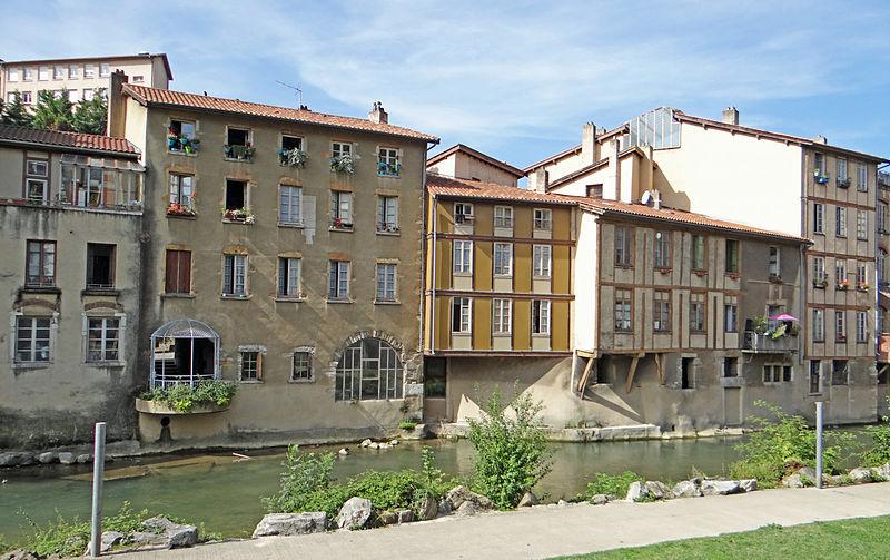 File:Vienne (Isère) - Les rives de la Gère -3.JPG Фотографии Вьена - достопримечательности Вьена в картинках, что посмотреть во Вьене, виды Вьена