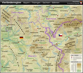 Das Fichtelgebirge im Nordosten Bayerns