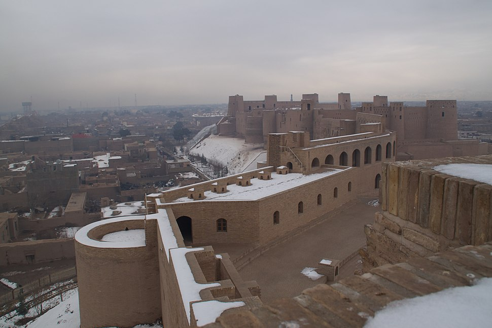 View of Herat Citadel from atop the premises